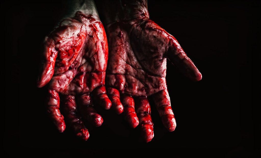 blood sap hand