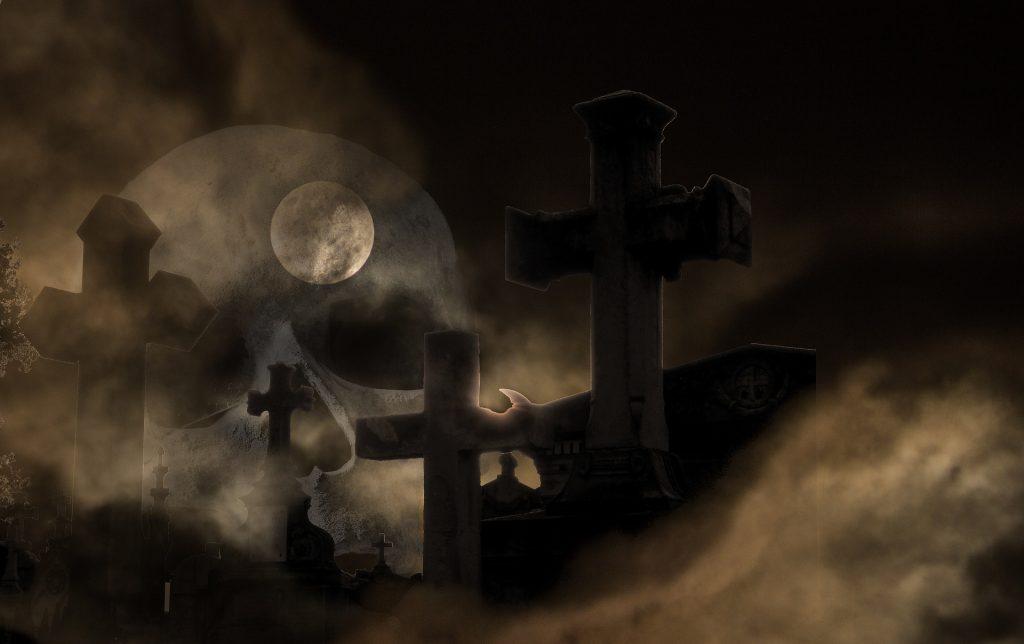 graveyard cemetery night