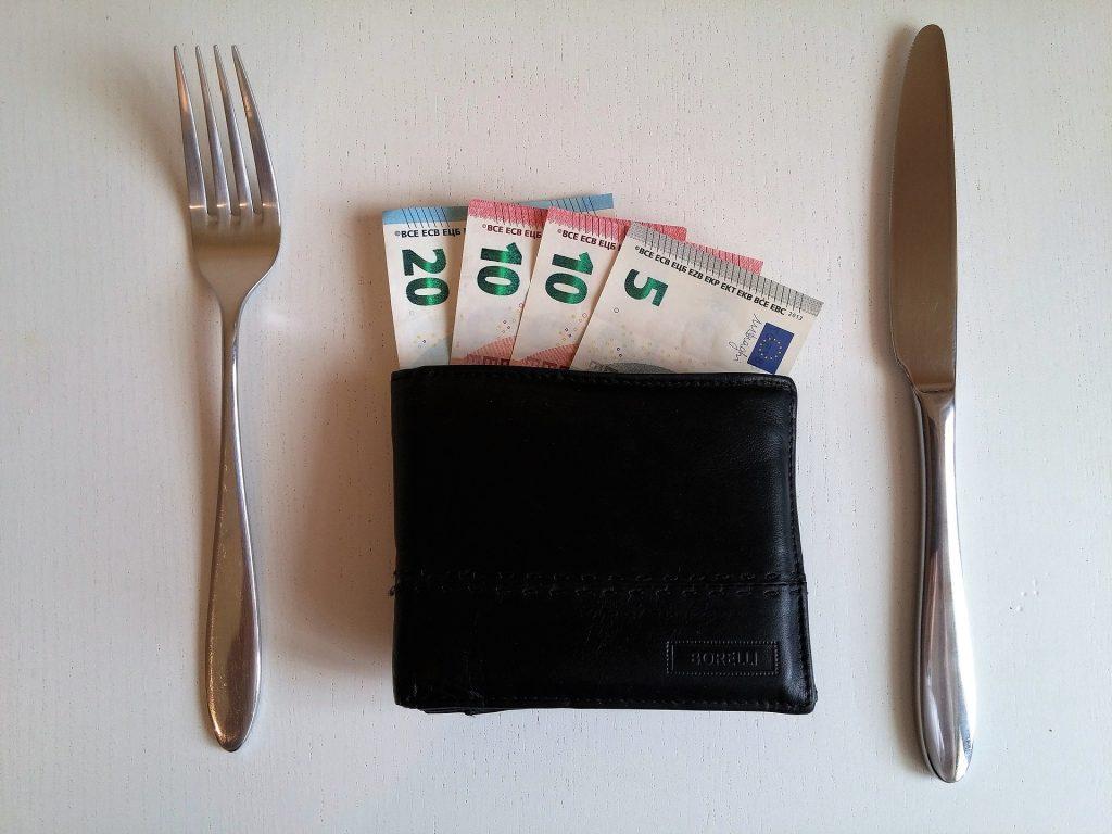 money  pay  buy food